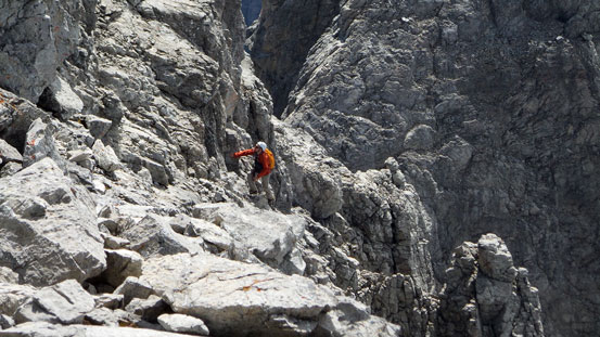 Ben ascending to the ridge
