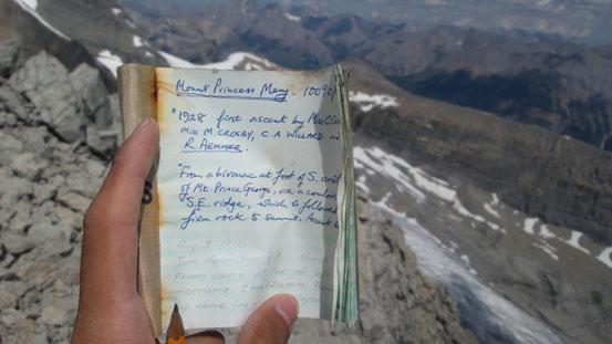 The old summit register