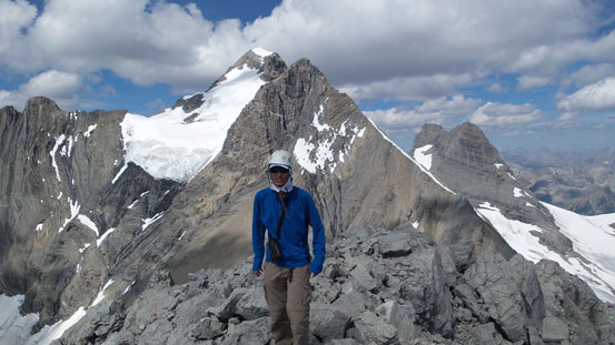 Me on the summit of Mt. Princess Mary, with King George behind