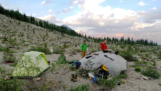 Our bivy site for this evening!