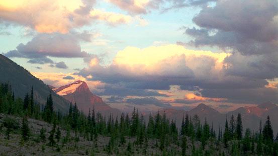 Evening glow on Mt. Joffre