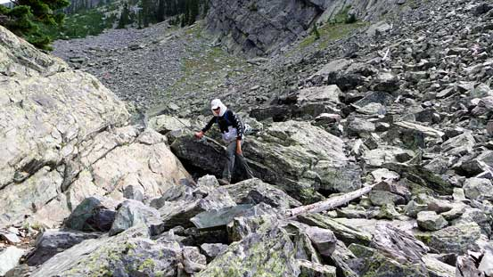 Negotiating a boulder field