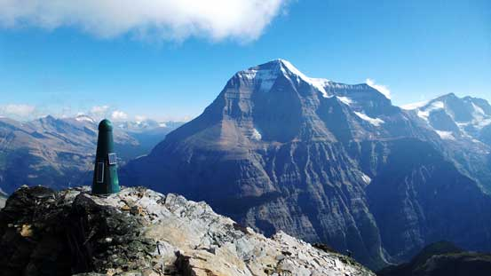 The mythic BC summit green tower and Mt. Robson