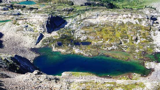 A beautiful alpine tarn in this valley.