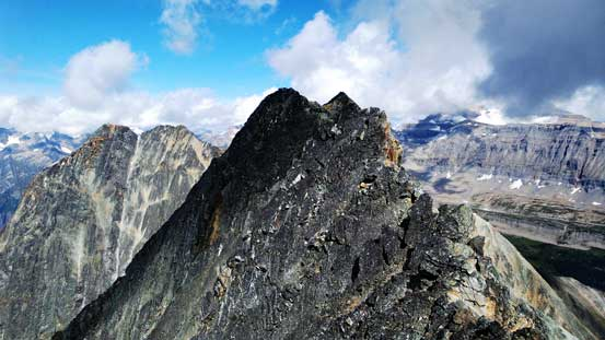 The final traverse to true summit