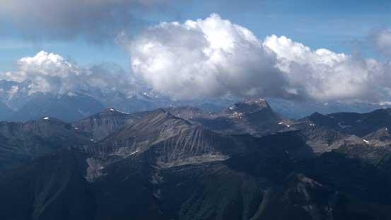 A piece of cloud hanging above Mt. Goslin