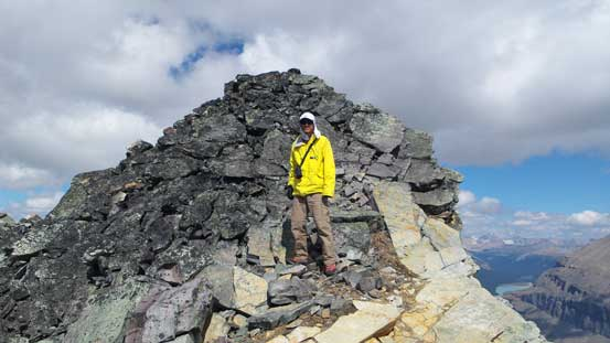 Me with the true summit behind.