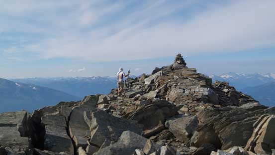 Near the summit of Mt. McKirdy
