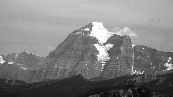 Mt. Robson in black-and-white