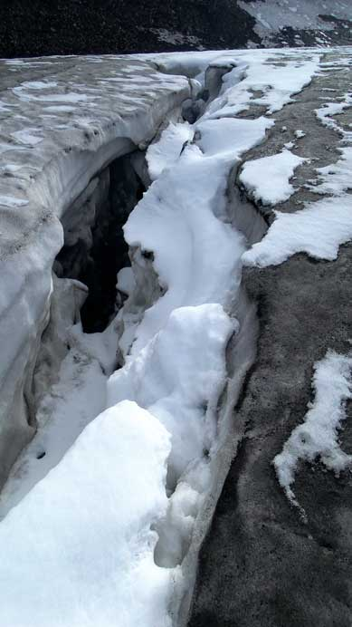 There're a few sizable crevasses like this - this glacier isn't as tame as you think!