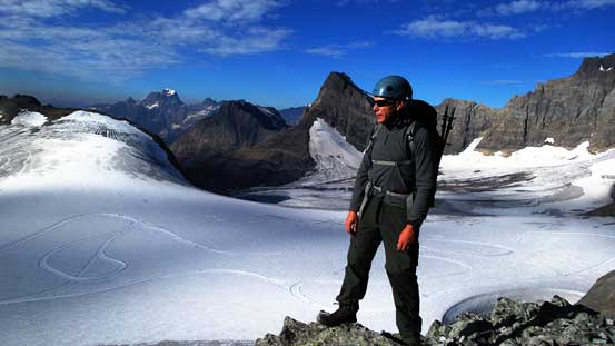 Doug with Haig Icefield behind