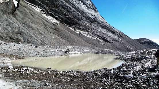 A muddy pond