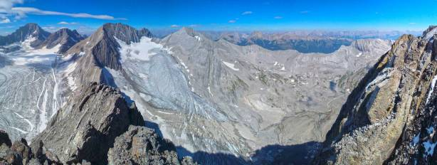 Panorama of Smith Dorrien Glacier and its valley