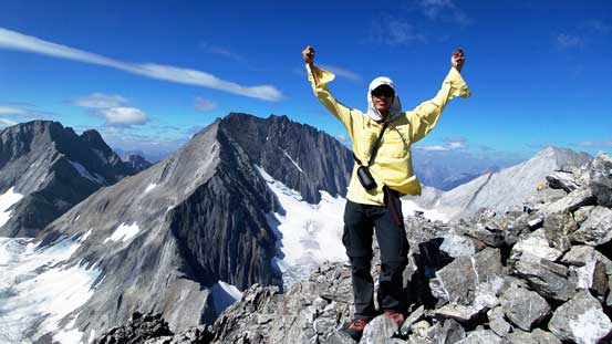 Me on the summit of Mt. Jellicoe
