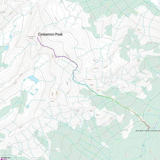 Cinnamon Peak scramble route