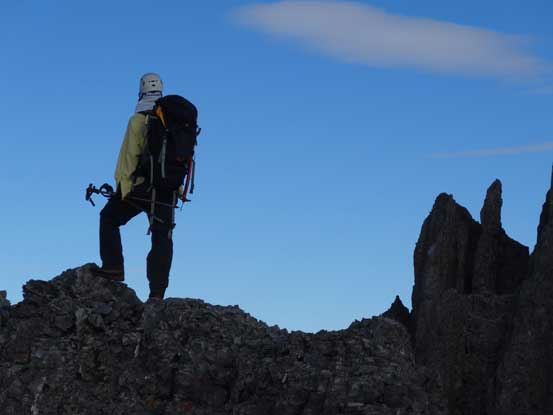 Me on the south ridge, checking the views. Photo by Doug Lutz