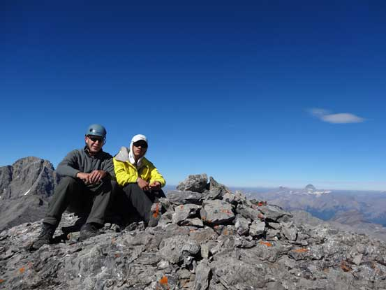 Doug and I on the summit. Photo by Doug Lutz