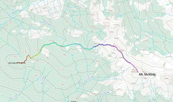 Mt. McKirdy scramble route