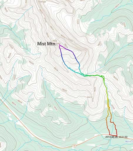Mist Mountain via the hiker's route