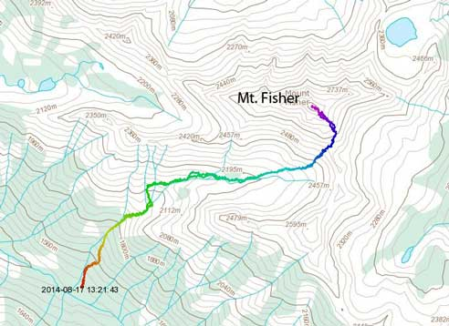 Mt. Fisher scramble route