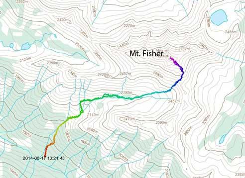 Mt. Fisher scramble route