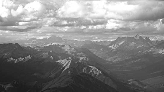 Mt. Assiniboine and Mt. King George looking north