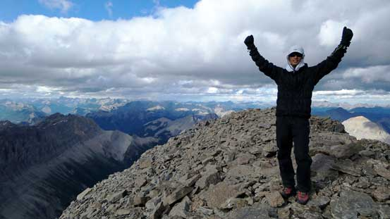 Me on the summit of Mt. Harrison, my 15th 11,000er!