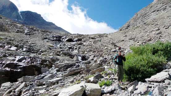 Descending the typical terrain
