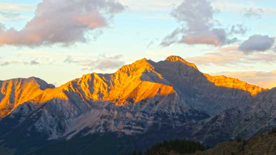 Mt. Peck at evening glow