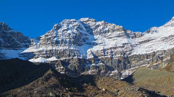 The east face of Mt. Cromwell. The new snow made it look like a Himalayan giant