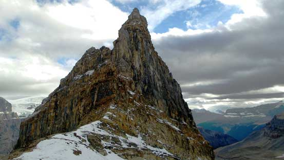 The north ridge of Little Alberta - has it been climbed?