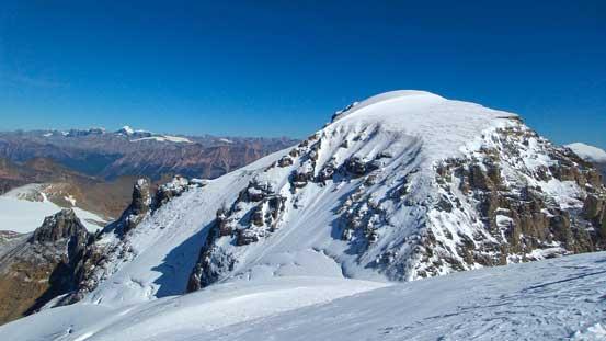 Diadem Peak seen from partway down Mt. Woolley