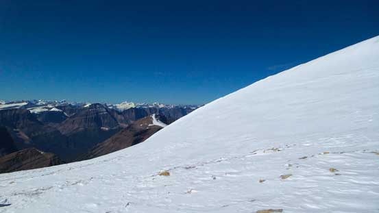 This snow hump would be the false summit.