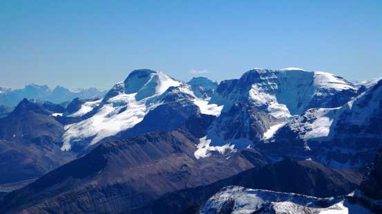 Mt. Athabasca and Mt. Andromeda. I've climbed both, highly recommended.