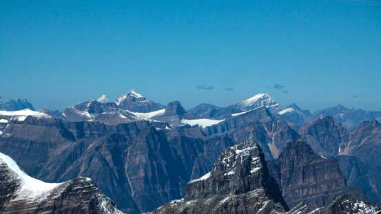 Mt. Fryatt and Mt. Edith Cavell, with Brussels Peak in front