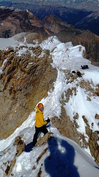 Vern starting the down-climb