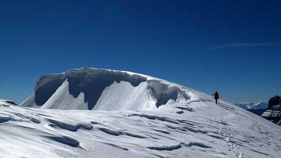 Ascending back to the false summit