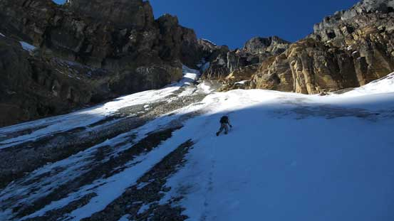 Ben in the 1st couloir.