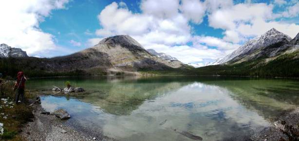 Panorama of the second Lake. I like the colour and the reflection.