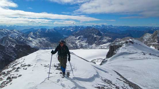Eric approaching the summit of Mt. Abruzzi