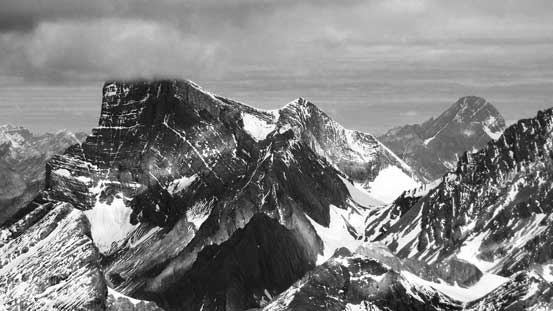 The impressive south face of Mt. Joffre