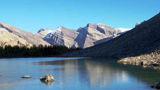 Peaks on Drummond Icefield