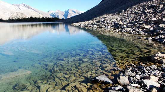 Crystal clear water in the lower Fish Lake