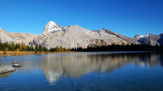 Cataract Peak and its reflection in lower Fish Lake