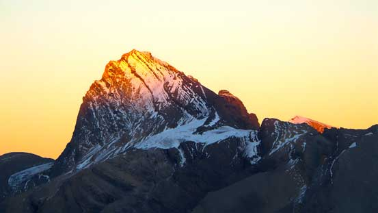 The last light shone on Cataract Peak