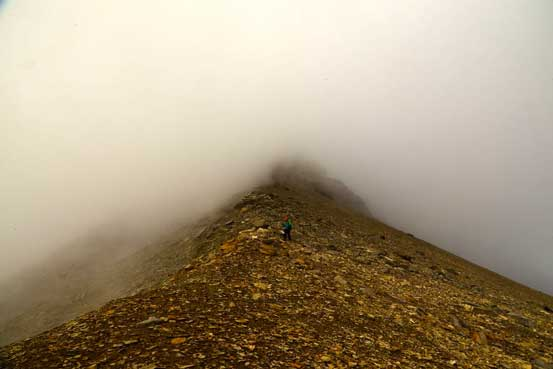 Vern descending. Weather got considerably worse now. Photo by Ben