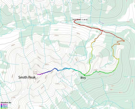 Smith Peak scramble route