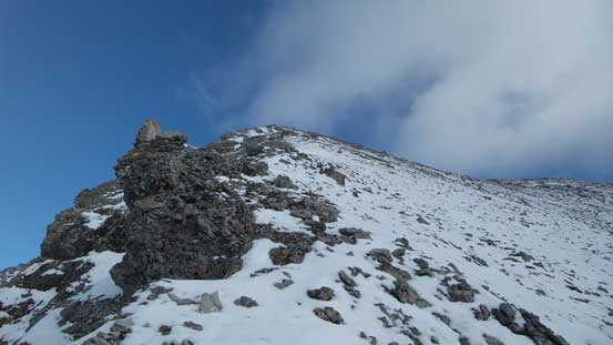 The broad summit ridge