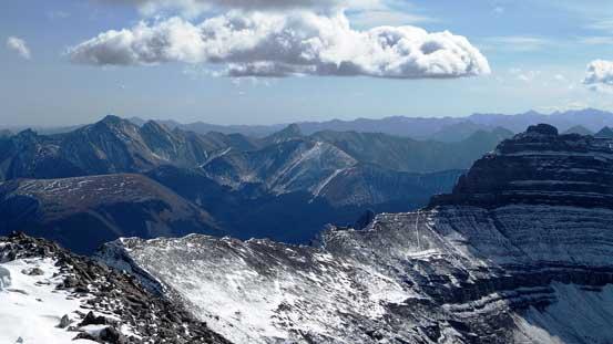 Front range peaks looking SE