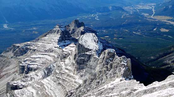 The series of pinnacles on Girouard's SW Ridge